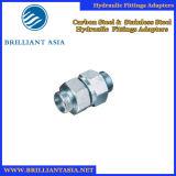 Encaixe de mangueira hidráulico reto do cotovelo material de aço, flange e adaptador hidráulico