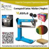 Maestro semiautomático de tamaños de cartón Máquina grapadora Cardrboard