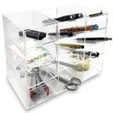 Organizador acrílico da mesa da fonte de escritório 4-Shelf