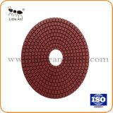 6 돌, Sharpence 및 내구재를 위한 인치 150mm 담황색 패드 닦는 패드
