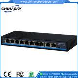 8+2 порта 10/100Мбит/с) сетевой коммутатор Poe с разъемами RJ45 восходящий канал (POE0820N)