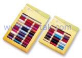 Polyester-Nähgarn-sortierte Farben im Fenster-Kasten (DTM013)