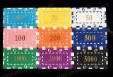 Обломок квадратного покера казина акриловый/Jeton/обломоки покера знаков внимания кристаллический