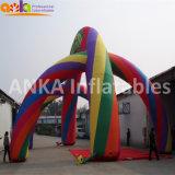 Voûte colorée d'arc-en-ciel gonflable à vendre le salon