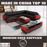Sofa concis de cuir de meubles de salle de séjour de type européen