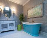 """浴室または台所または喫茶店のための3枚の"""" X6 """" /7.5X15cmの灰色の光沢のある地下鉄のタイル"""