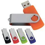 주문을 받아서 만들어진 로고를 가진 선전용 금속 회전대 USB 섬광 드라이브
