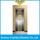 Elevatore lussuoso del passeggero con l'acciaio inossidabile dello specchio