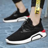 Произведенных в Китае работает обувь для вязания Vamp мужчин Sneaker Pimps спорта работает обувь для мужчин и женская обувь при работающем двигателе