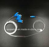 Оптоволоконный кабель Gpon телекоммуникационных 1X8 Stee Ltube PLC разветвитель Sc/блок защиты и коммутации