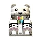 Fabrik neues Inflatables Plättchen mit Panda-Thema für Kinder und Werbung