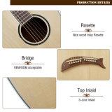 Guitarra acústica desarrollada de la arpa de la fábrica de Aiersi nueva