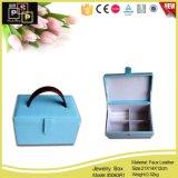 Personnalisé Bleu Bijoux La boîte de rangement en cuir de PU L'emballage (3063R1)
