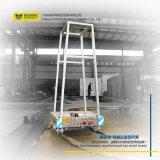 Bateria de lítio Indústria alimentado via transporte ferroviário Circular Carrinho de Transferência