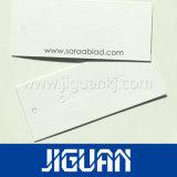Etiquetas de papel de lujo de encargo de la caída de la ropa de la impresión