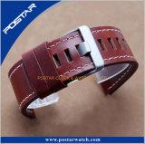 Estilo diferente apropriado genuíno do relógio da cinta de couro com tamanho personalizado