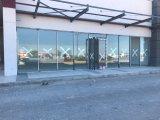 Portello di alluminio della molla del pavimento di stanza frontale di negozio di Commerical di vetro Tempered As2208