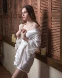 熱い販売の女性の花嫁の浴衣の着物と結婚するセクシーな服ローブポリエステル綿繻子