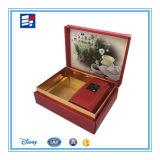 Rectángulo de regalo de empaquetado de la cartulina para la botella plástica de la bandeja y de la miel