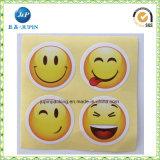Étiquette auto-adhésive de collant de face heureuse promotionnelle de dessin animé (JP-S119)