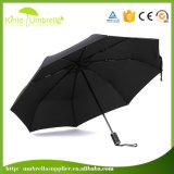 3개의 겹 우산을%s 주문 색깔 검정 금속 방풍 프레임