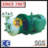 Pompa autoadescante centrifuga chimica allineata rivestimento orizzontale di PFA