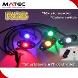 Felsen-Licht RGB-LED, 4 Hülsen in einem Installationssatz, 9W pro Birne