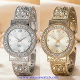 Relógios de pulso feitos sob encomenda da forma do relógio de quartzo das mulheres do logotipo para as senhoras (WY-17007D)