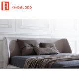 Mobiliário de design moderno italiano Leather King Cama Queen Size quarto Quarto móveis definido