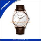Le quartz frais de cuir véritable de mode d'hommes de montres folâtre le Mens de montres