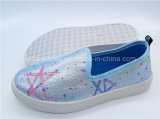 Горячая продавая фабрика ботинок холстины Slip-on впрыски ботинок детей (ZL1017-12)