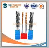 4 flautas moinhos de ponta de carboneto de tungstênio para ferramenta de corte