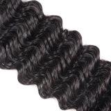 自然なカラー深い波12inchesを編むブラジルのバージンの毛