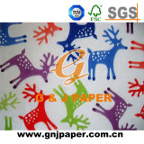 Impression d'images sur le papier d'emballage de tissu de cadeau en Rolls/feuilles