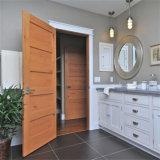 Portas de entrada contínuas modernas da madeira de carvalho com pintura