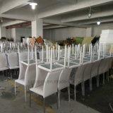 Duurzame het Dineren van het Leer van het Frame van het Roestvrij staal Stapelbare Stoel (SP-LC210)