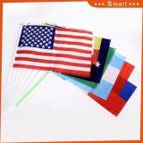 Америки полиэстер развевается флаг руки в США