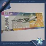 Ligne de sécurité gaufrage billet d'aluminium
