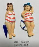 Signora Magnet Gifts di buona qualità 3D per i ricordi della spiaggia