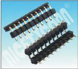 Boîtier à double rangée unique d'usine R/A H : 2,5 mm femelle/mâle embase à broches broches Connecotr 10