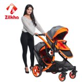 Caminhante do bebê com frame e o Carrycot regular do assento e o regular