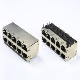 2X5 порта разъемов RJ45 сетевого разъема