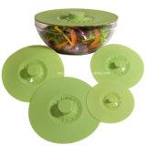 Tampas de alimentos de silicone resistente ao calor e tampas de estanqueidade de Sucção