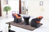 Напольная мебель ротанга PE балкона отдыха гостиницы кафа клуба двора сада