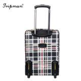 新しいモデルのブランドPUの革車輪の荷物旅行トロリー箱