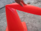 PE PUの材料によって着色されるプラスチック警告のポスト