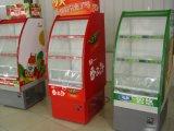 Refrigerador do indicador do vegetal de fruta do refrigerador de ar aberto do supermercado