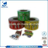 Completar en las especificaciones chicle etiqueta etiqueta de papel
