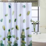 100%Polyester делают занавес водостотьким ливня ванной комнаты для гостиницы (18S0064)