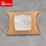 Kundenspezifischer Packpapier-Brot-Torte-Kissen-Satz mit Fenster